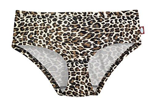City Threads Big Girls' Swimwear Briefs Bikini Bottoms Beachwear UPF50+ Sun Protection For Beach Pool Summer Fun, Leopard Print, 16