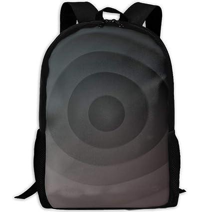 Amazon.com  KIENGG Gray Black Gradient Unisex Adult Custom Backpack ... e1e54a5b04290