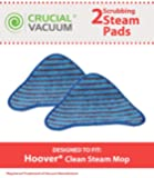 Crucial Vacuum 2 Hoover Scrubbing WH20200 Steam Mop Pads Fits Hoover WH20200 and WH20300, Compare to Part # WH01000, WH01010