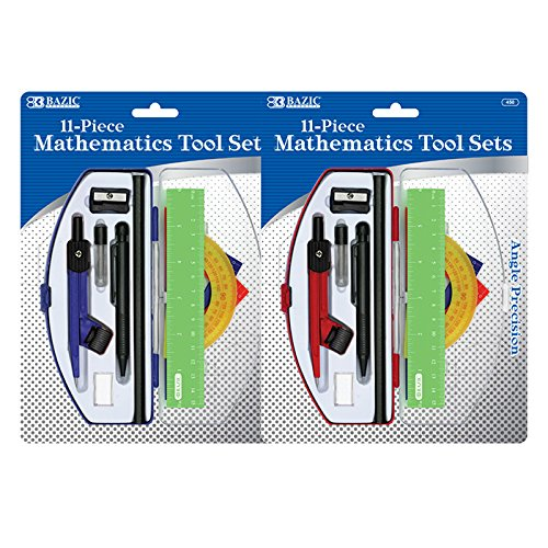 BAZIC Student Math Tool Sets, Case Pack of 72