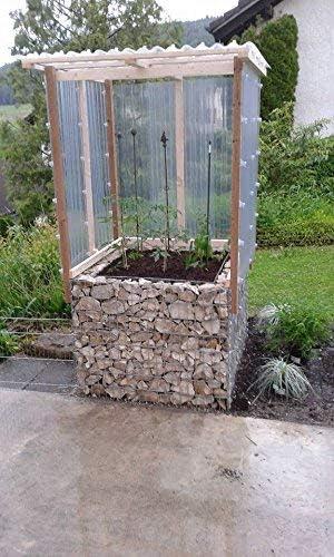 Bancal piedra cesta de gavión cuadrado (, malla 5 x 10 cm ...