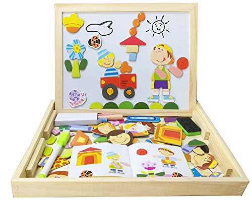 Doshop Children's Wooden Magnetic Jigsaw Puzzle Game Toys...