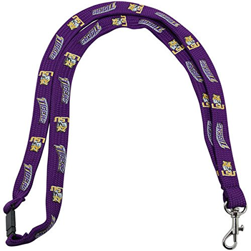 New! Louisiana State Tigers Safety Clip Lanyard NCAA Key ID Badge Holder - ()