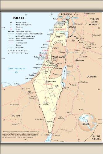 Poster - Israel UN Map