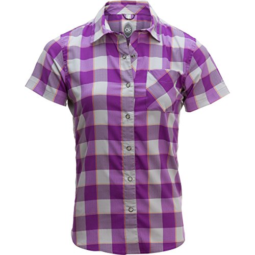 - Club Ride Apparel Bandara Jersey - Women's Dewberry Plaid, L
