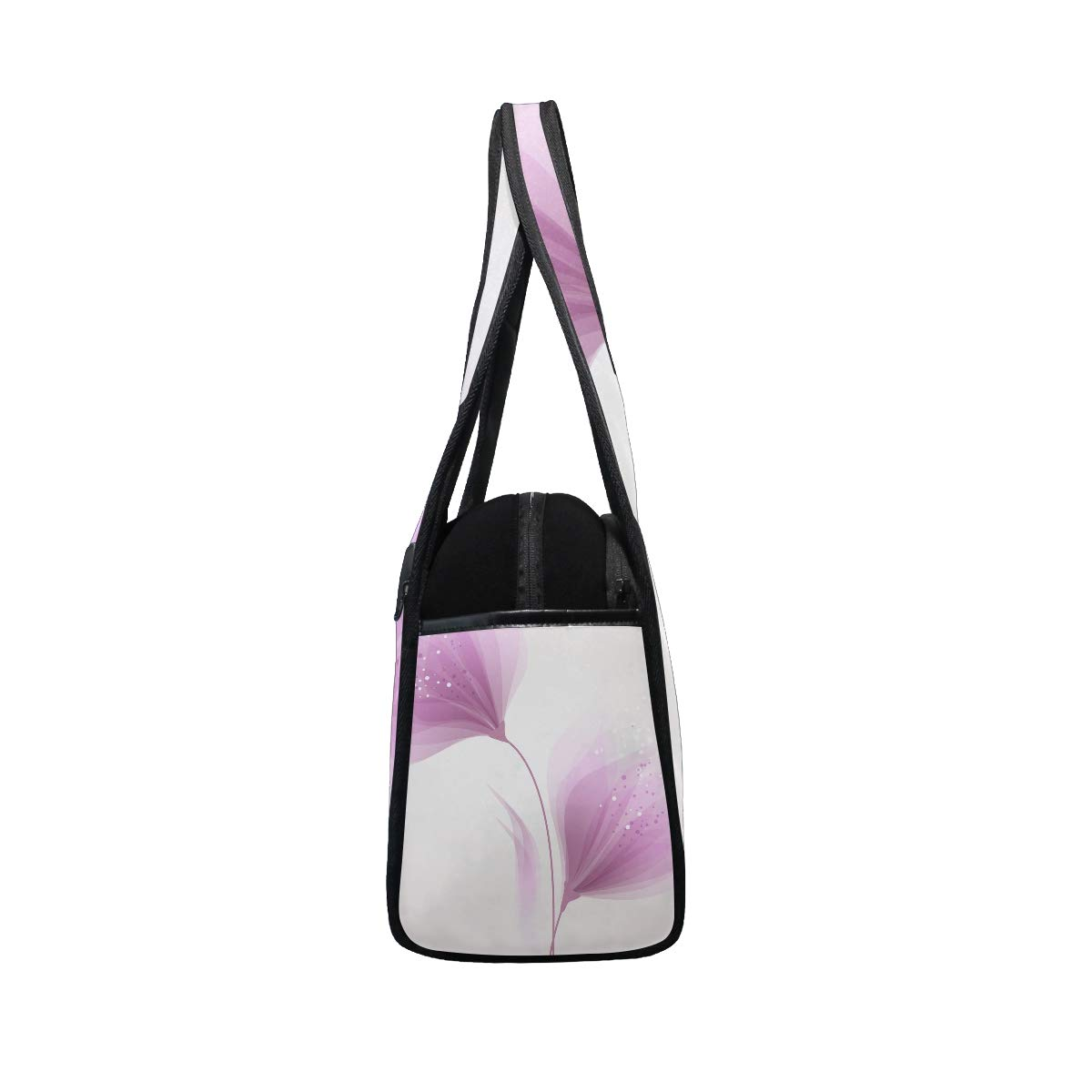 Abstract Bloom Pink Flower Women Sports Gym Totes Bag Multi-Function Nylon Travel Shoulder Bag