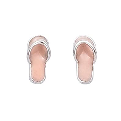 cf41a9f7f Image Unavailable. Image not available for. Color  So Chic Jewels - 925  Sterling Silver Pink Enamel Havaianas ...