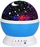 Hilai Night Light Lamp, Star Projecteur LED Romantique Night Light 360 degrés de Rotation 4 Ampoules LED 9