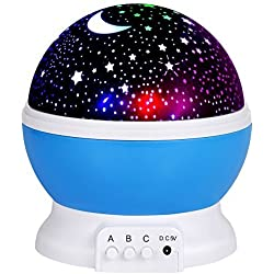 LED Night Lighting Lamp -Elecstars Light up Your Bedroom with This Moon, Star,Sky Romantic - Best Gift for Men Women Teens Kids Children Sleeping Aid