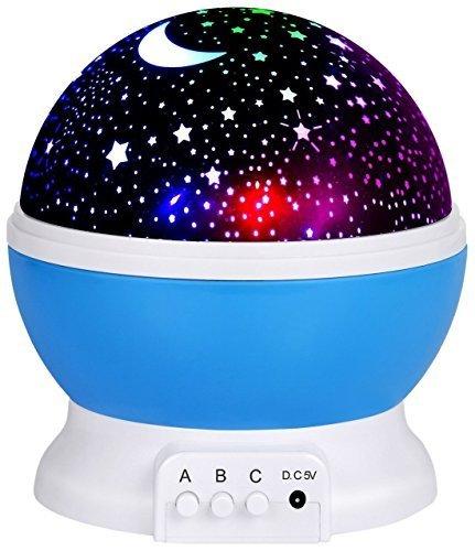 LED Night Lighting Lamp -Elecstars Light up Your Bedroom with This Moon, Star,Sky Romantic - Best Gift for Men Women Teens Kids Children Sleeping Aid -