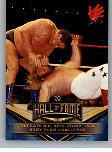 2018 Topps Road to WrestleMania WWE Hall of Fame Tribute #2 Andre the Giant Defeats Big John Studd in a Body Slam Challenge NM-MT (Best Body In Wwe)
