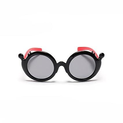 HJXJXJX Niños circulares gafas de sol materiales de silicona ...