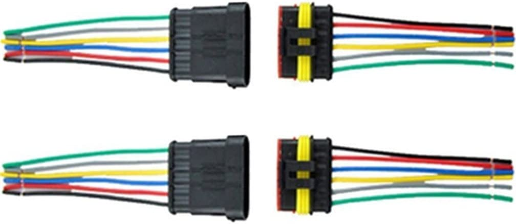 Qiorange 2 Tlg 6 Poliger Kabel Steckverbinder Stecker Wasserdicht Schnellverbinder Kfz Lkw Auto 2pcs 6 Polig Auto