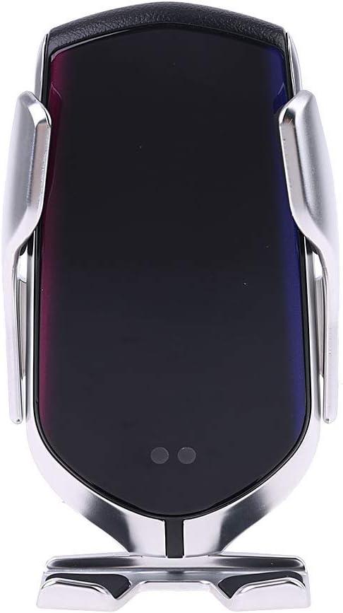 smallJUN Smart Automatic Versión Mejorada R2 Sensor de Infrarrojos Soporte para teléfono del Coche Abrazadera Ventilación 10W Carga rápida Cargadores inalámbricos Soporte para teléfono móvil