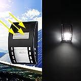 silverone Solar Sensor Wall Lights, Waterproof 3 LED 120LM PIR Solar Sensor Lamp Security Light for Outdoor Deck Patio Driveway Garage Garden