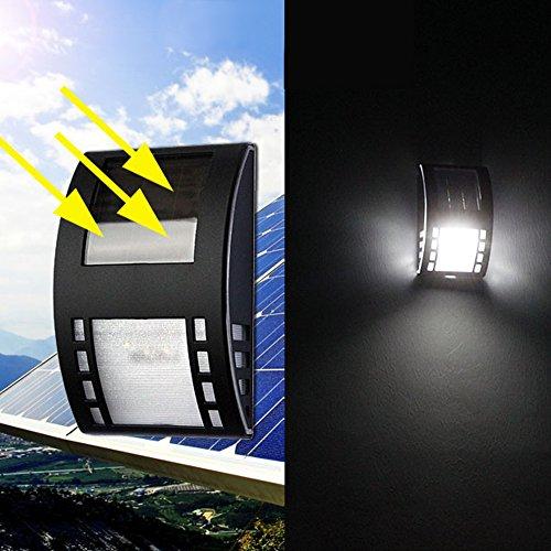 AMZVASO - 3 LED 120LM PIR Solar Sensor Lamp Outdoor Energy Saving Street Waterproof IP65 Garden Yard Wall Light