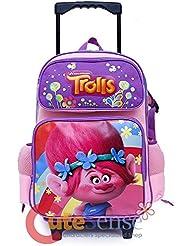 Dreamworks Trolls 16 Large Girls Roller/Rolling School Backpack- Poppy