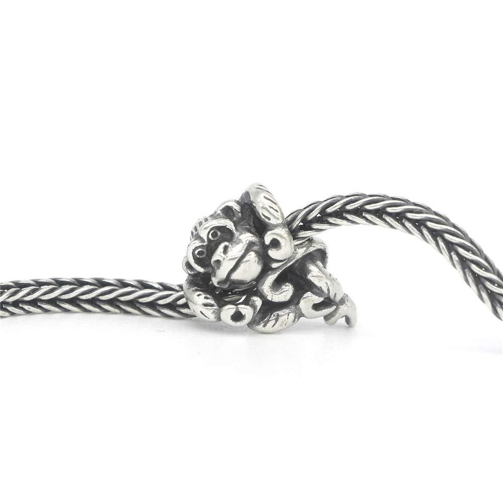Calvas Genuine 925 Sterling Silver Orangutan /& Harmony Charm Bead Fit European Troll 3.0mm Bracelet