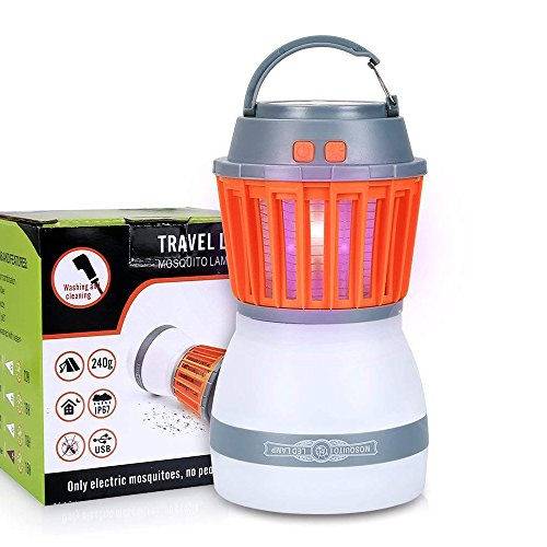 TOFOCO COM Electric Bug Zapper Mosquito Killer Catcher Trap with LED Night Light - Insect Repelling Portable Waterproof Camping Lantern Lamp for Indoor Home Outdoor Traveling by TOFOCO COM