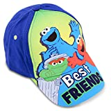 Sesame Street Toddler Boys Best Friends Cotton Baseball Cap, Age 2-4