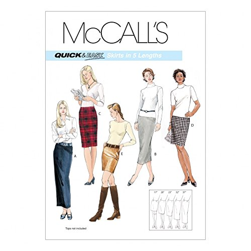 McCalls Ladies Easy Sewing Pattern 3830 Pencil Skirts in 5 Lengths