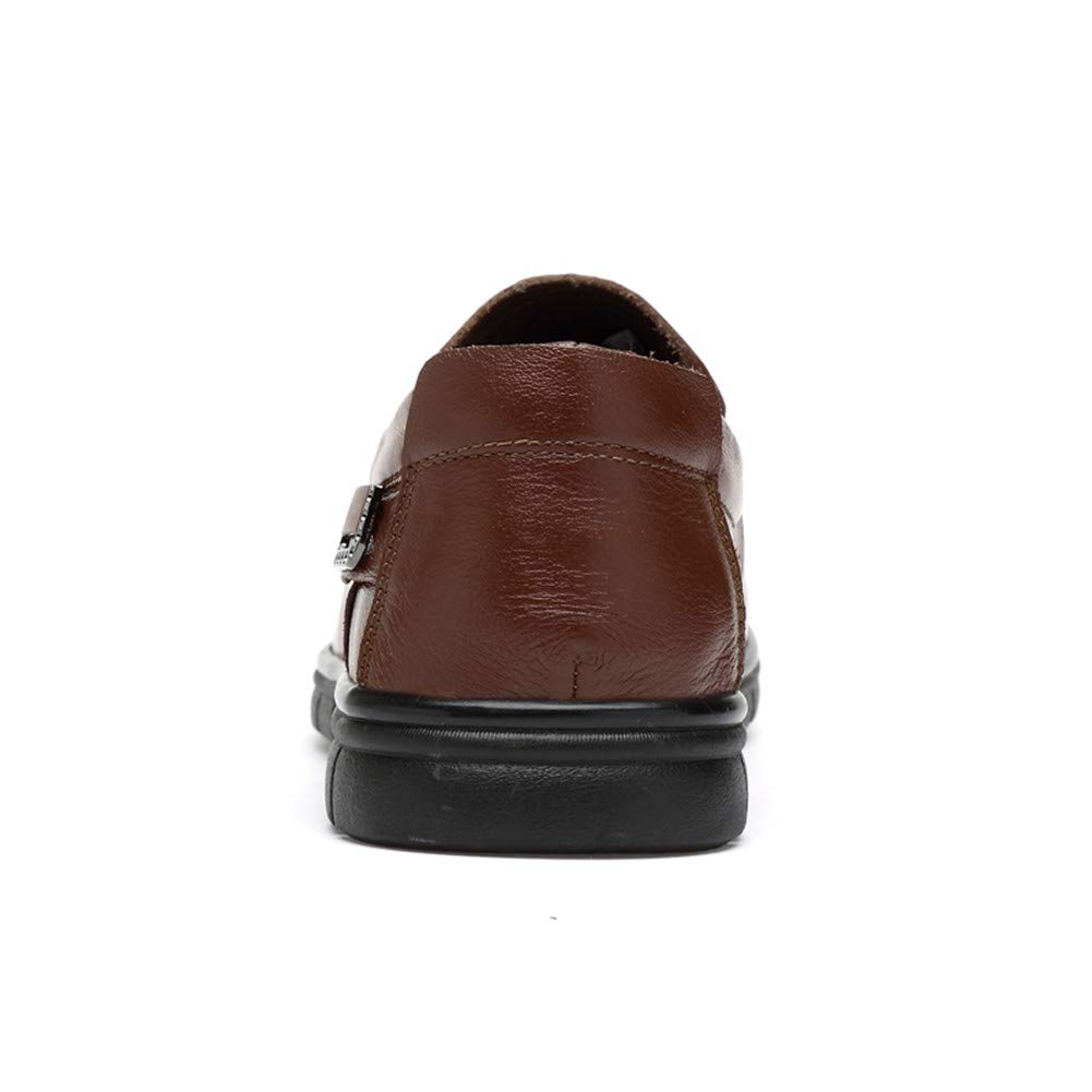 WOJIAO Conduite Voiture Glissement sur Chaussures Hommes Respirant Confortables Mocassins Plats Oxfords