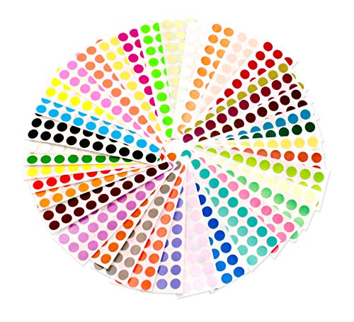 ChromaLabel 38 Collection Color-Code Dot Labels | 38 Assorted Colors (1/4 inch)