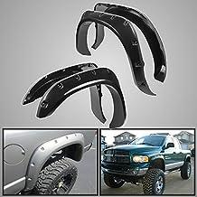 2002 2003 2004 2005 2006 2007 2008 Dodge Ram 1500 Dodge Ram 03 - 09 2500 3500 Injection Molded Fender Flares Pocket Style 4pcs kit w/ Hardware