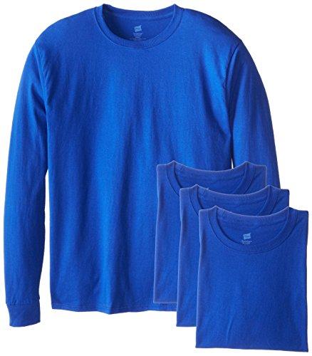 Hanes Men's 4 Pack Long Sleeve Comfortsoft T-Shirt, Deep Royal, 3X-Large - Long Sleeve Blank T-shirts