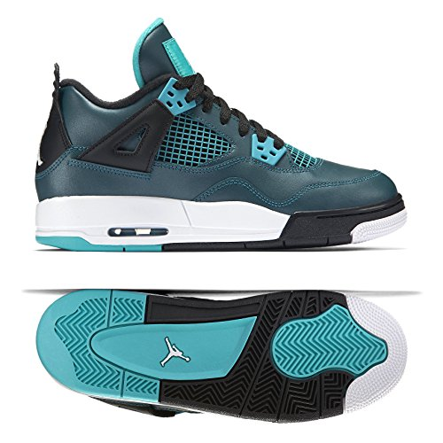 Galleon - NIKE Mens Air Jordan 4 Retro 30th BG Teal Teal White-Black  Leather Size 6.5Y Basketball Shoes 2fda36714