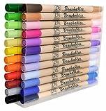 Kuretake Zig 24 Pack Brushables Dual Tip Brush Pens Color Marker