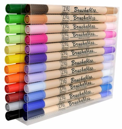 Kuretake Zig 24 Pack Brushables Dual Tip Brush Pens Color Marker
