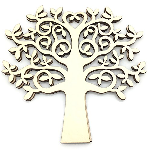 OZXCHIXU (TM) 5pcs Tree Shape for Crafts, with added love - perfect for Family Tree, Weddings (25cm)]()
