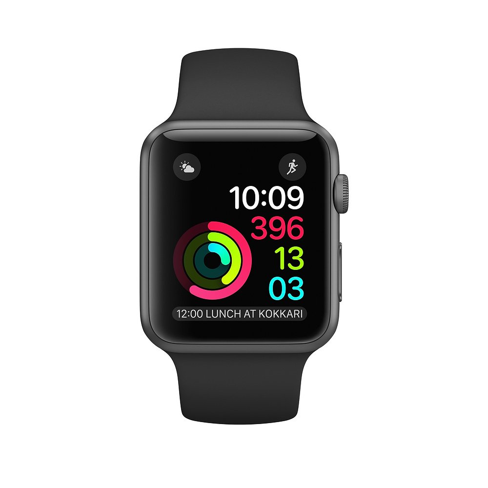 Apple Watch Series 2 OLED GPS (satélite) Gris Reloj Inteligente - Relojes Inteligentes (OLED, Pantalla táctil, GPS (satélite), 18 h, 34,2 g, ...