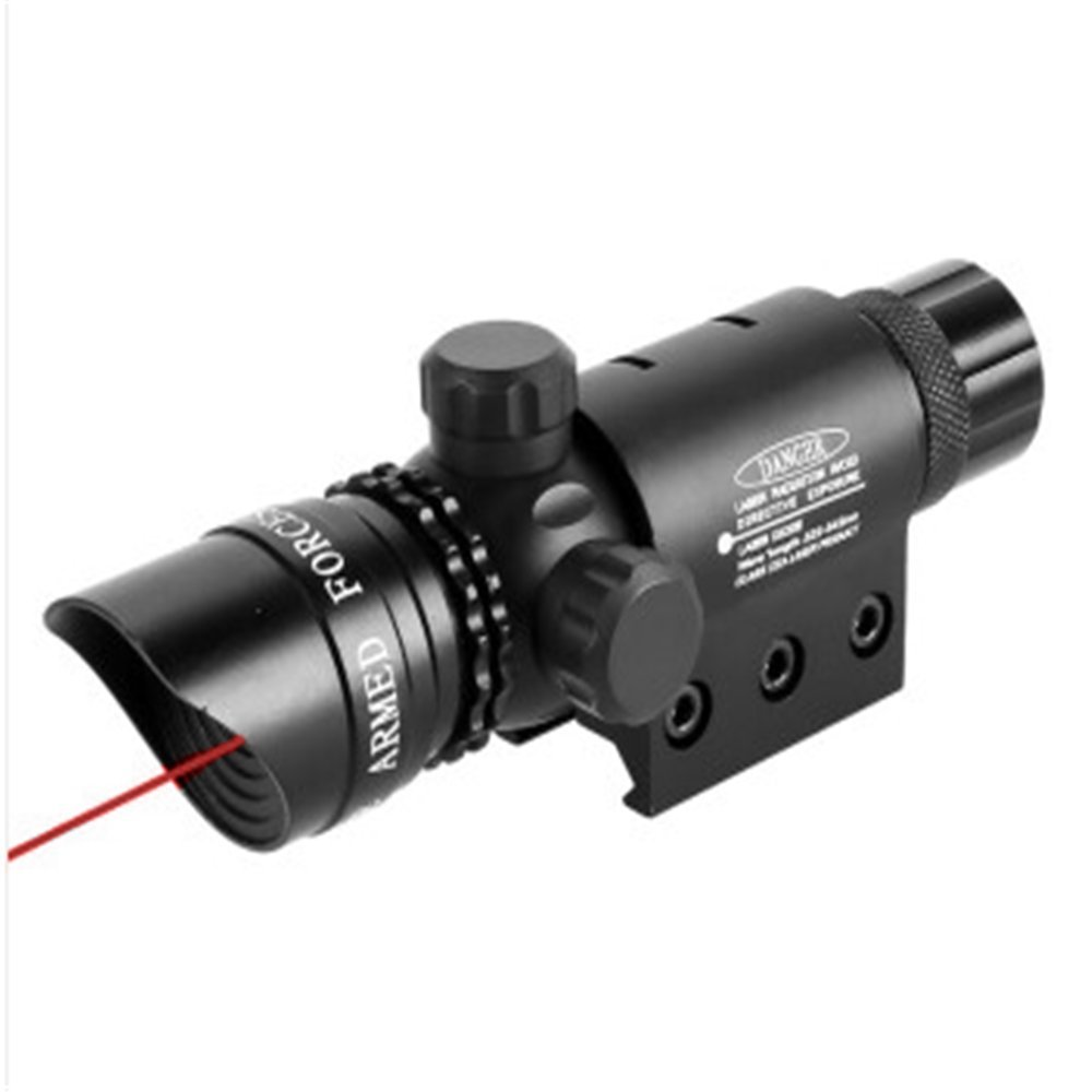 MBMAH Red Dot Sight Laser Sight System by Armament - 5mw 650nm Tactical Red Dot Laser with Picatinny Rail Mount Barrel Switch and and Battery Charger Included