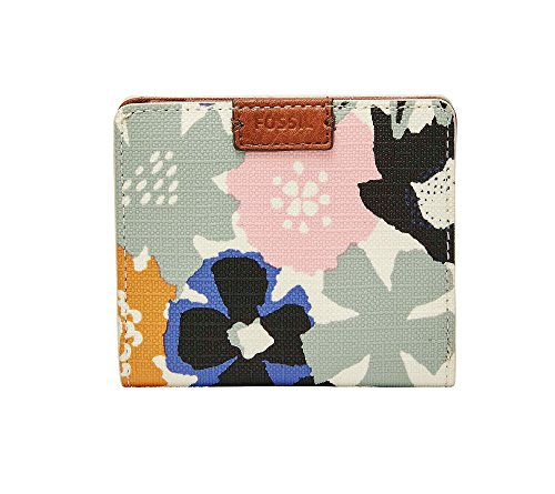 Price comparison product image Fossil Emma Rfid Mini Wallet,  Navy Floral