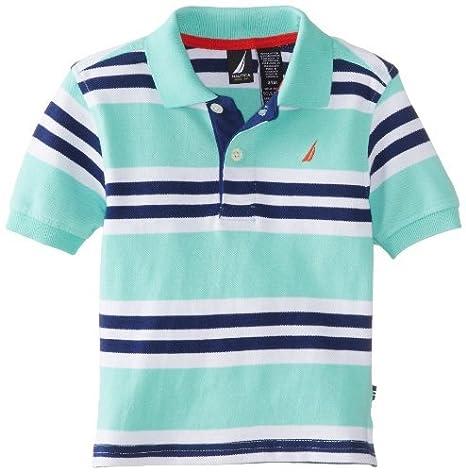 Nautica Baby-Boys infantil Multi Color Stripe Polo, verde claro ...
