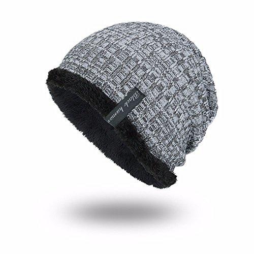 Gorro punto de blanco invierno de en al invierno aire cálido e de otoño libre lana Hr1Hw5q