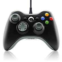 Karl Aiken® Wired Controller Black Colour for Windows(7/8/10/Vista) & Xbox 360 Console