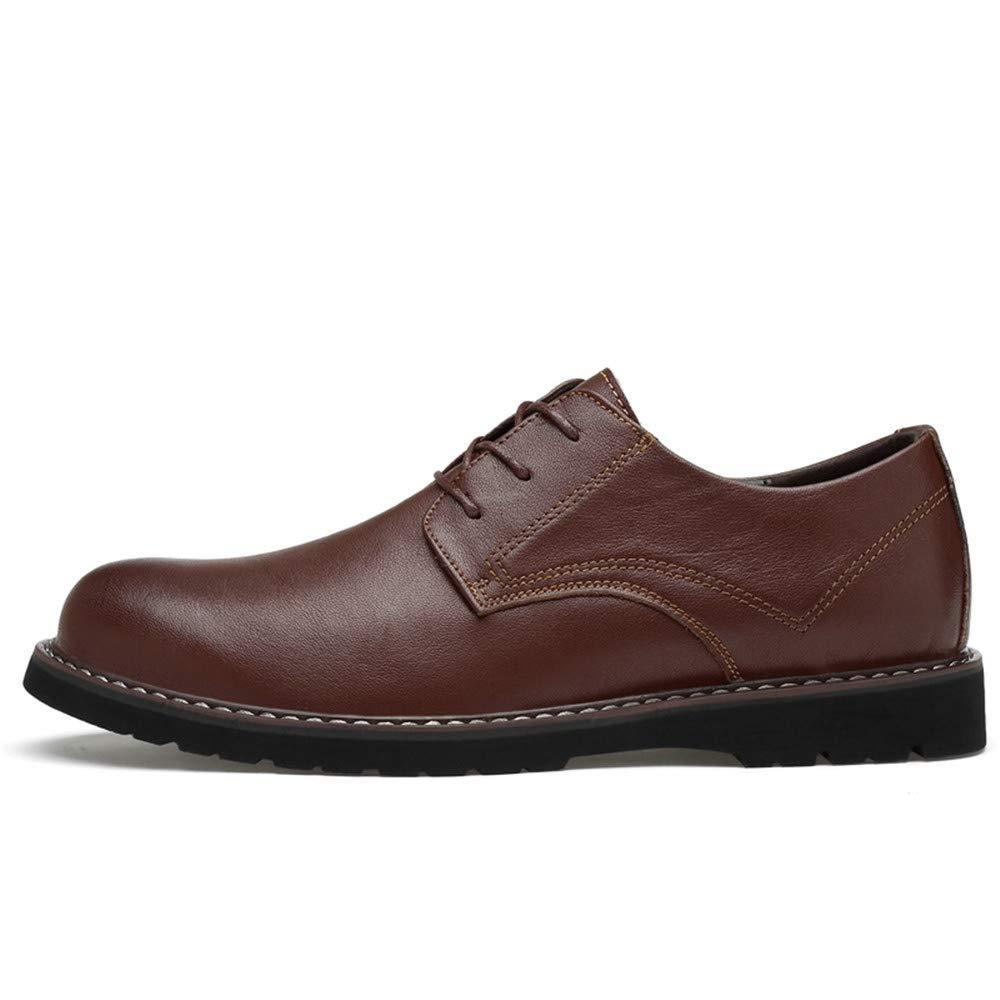 Xujw-schuhe, 2018 Schuhe Herren Herren Business Oxford Kopf Casual Einfache Klassische Runde Kopf Oxford Formelle Schuhe (Farbe : Schwarz, Größe : 43 EU) Braun 00ef14