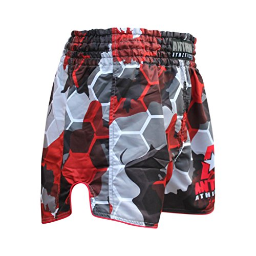NEW! 10+ Styles - Anthem Athletics RECKONER Retro Muay Thai Shorts - Kickboxing, Thai Boxing, MMA - Red Camo Hex - Large