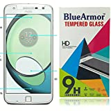 BlueArmor 2.5D Curved Tempered Glass Screen Guard Protector for Motorola Moto Z Play / Moto Z2 Play Tempered Glass / Moto Z2 Play Glass