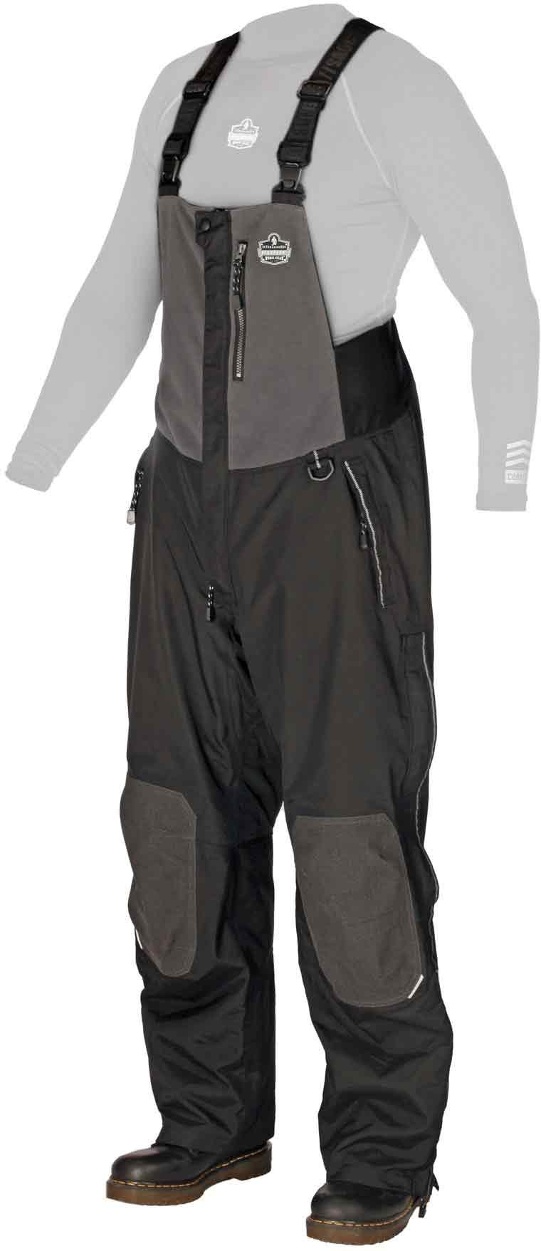 N-Ferno 6470 Men's Outer Layer Thermal Bib Overalls with Removable Knee/Shin Pads, Large