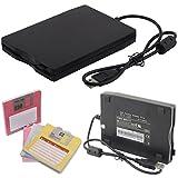 3.5' External USB Portable Floppy Disk Drive Diskette 1.44MB FDD for Laptop PC - Compatible with Windows 98/SE/2000/ME/XP/VISTA/Windows 7
