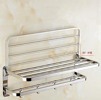 Toallero acero inoxidable 304 baño estante baño perchero plegable de metal toallero 80 cm