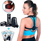 Posture Corrector for Women & Men - Discreet Slim Under Clothes Back Brace for Upper Back Pain + Neck Brace - Shoulder Straightener, Thoracic & Lumbar Support