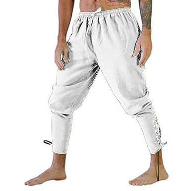 Pantalón de chándal para Hombre de la Edad Media, de algodón con ...