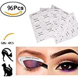 #9: Ownest 96 Pairs Eyeliner Stencil Stickers+4 Pairs Cat Eyeliner Stencil, Smoky Eyeshadow Applicators Template Plate,Professional Multifunction Makeup tools