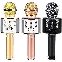 Bluetooth USB Şarj SD Girişli Karaoke Çocuk Oyuncak Mikrofonu