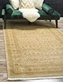 Unique Loom Edinburgh Collection Oriental Traditional French Country Cream Area Rug (3' x 5')